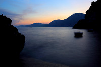 Sunset at Italien Amalfi coast